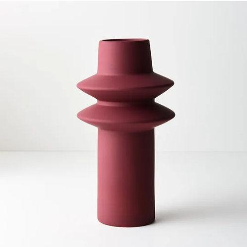 Lucena Vase 21.8cmx12.5cm - Cerise