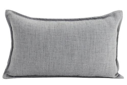 Oblong Linen Cushion - Light Grey