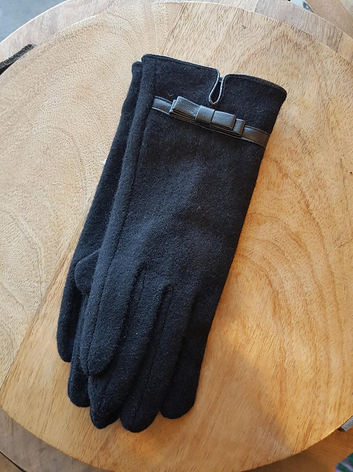 Wool Gloves - Black