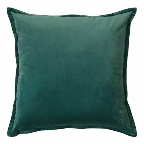 Mira Velvet Cushion - Atlantic