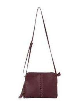 Pia Crossbody Bag - Burgandy