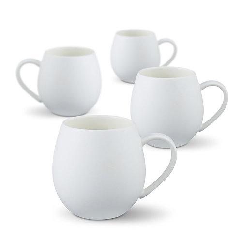 Robert Gordon Hug Me Mugs 4 Pk - Matt White