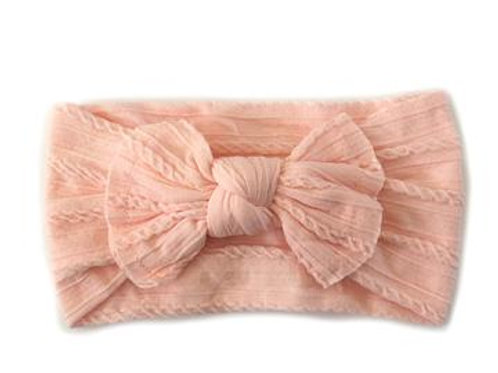 Knotted Headband - Peach