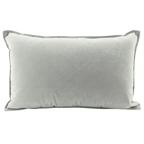 Velvet Oblong Cushion - Light Grey
