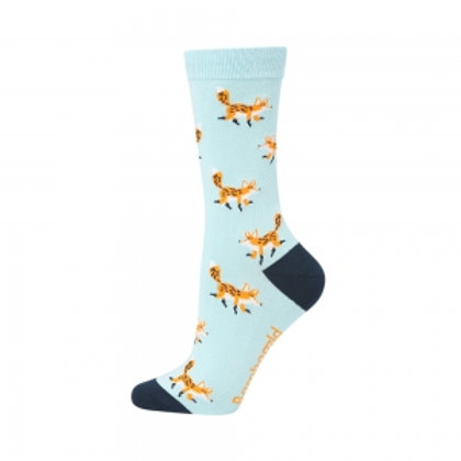 Ladies Fox on the Run Bamboo Socks 2-8