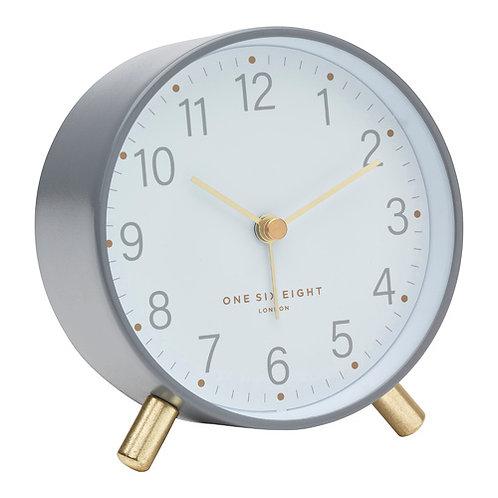 Maisie Silent Alarm Clock - Grey