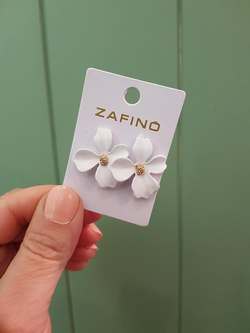 CLEARANCE Small Orchid Earrings - White