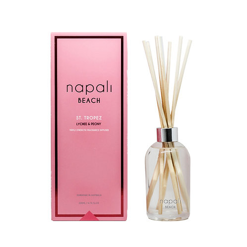 Napali Reed Diffuser - St Tropez - Peony and Lychee