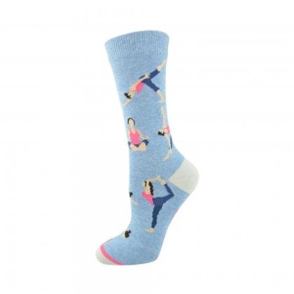 Ladies Yoga Bamboo Socks 2-8