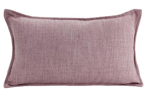 Oblong Linen Cushion - Blush