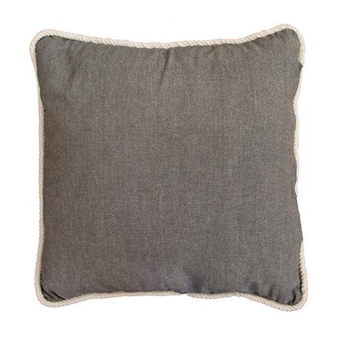 CLEARANCE Burleigh Rope Charcoal Cushion