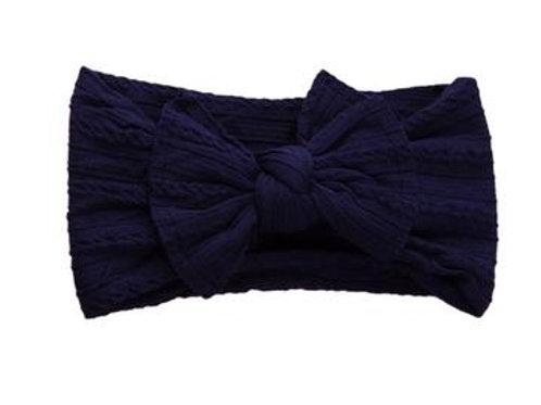 Knotted Headband - Navy