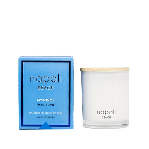 Napali Candle 400g - Mykonos - Sea Salt and Amber
