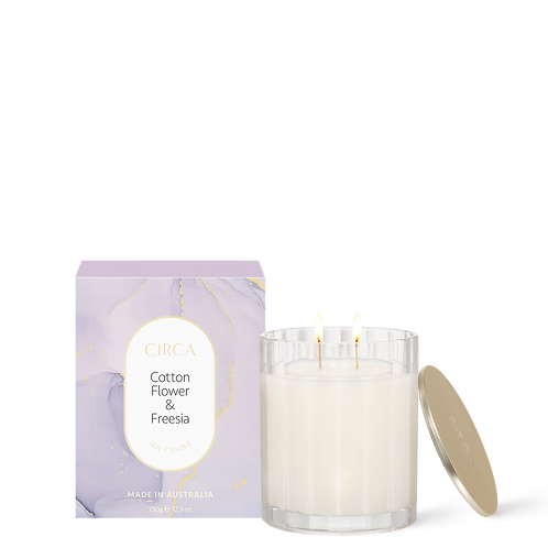 Circa Candle  350g - Cottonflower & Freesia