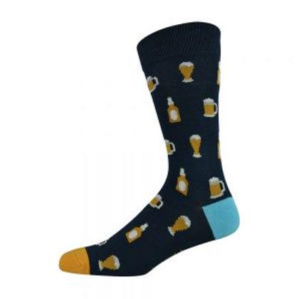 Mens Beer  Bamboo Socks 7-11