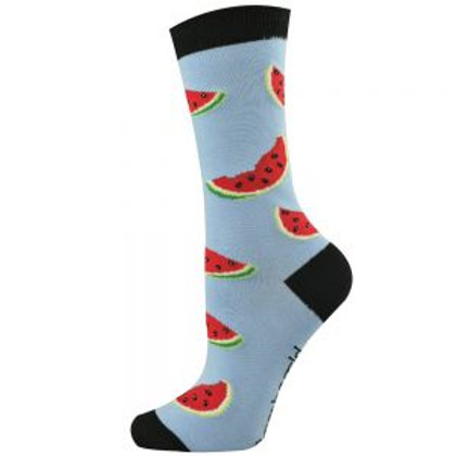 Mens Watermelon Bamboo Socks 7-11