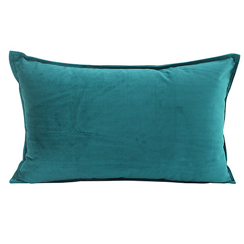 Velvet Oblong Cushion - Jade