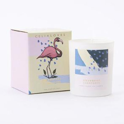 Celia Loves Candle - Strawberry Champagne - 80 hour