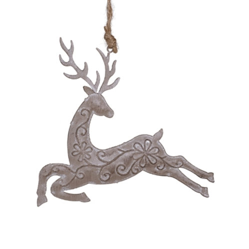 CLEARANCE Metal Reindeer Hanging