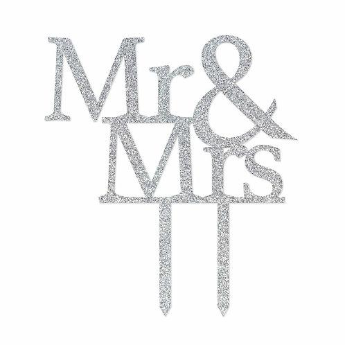 CLEARANCE Cake Topper - Mr & Mrs