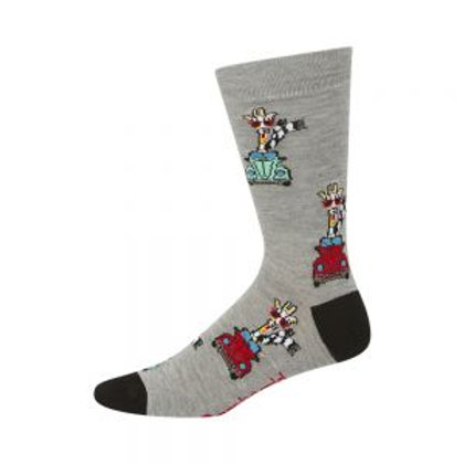 Mens Driving Giraffe Bamboo Socks 7-11