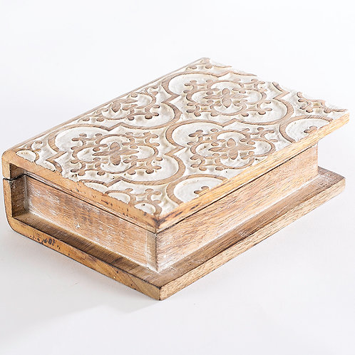Carved Book Box
