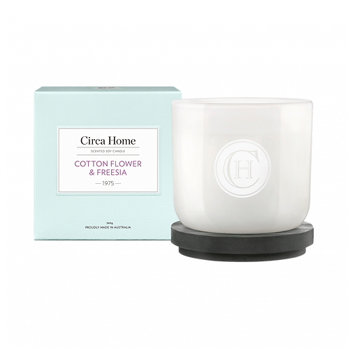 Circa Home Candle 260g - Cottonflower & Freesia
