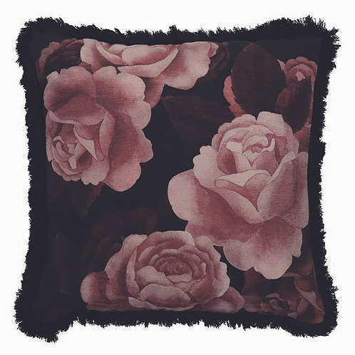 Midnight Rose Claret Cushion