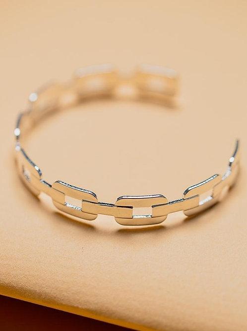 Chain Link Cuff - Silver