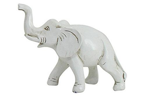 Stampy Elephant White 10x6x7