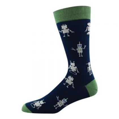 Mens Robot Bamboo Socks 7-11