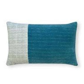 CLEARANCE Madras Link Safi Aqua Patch Cushion