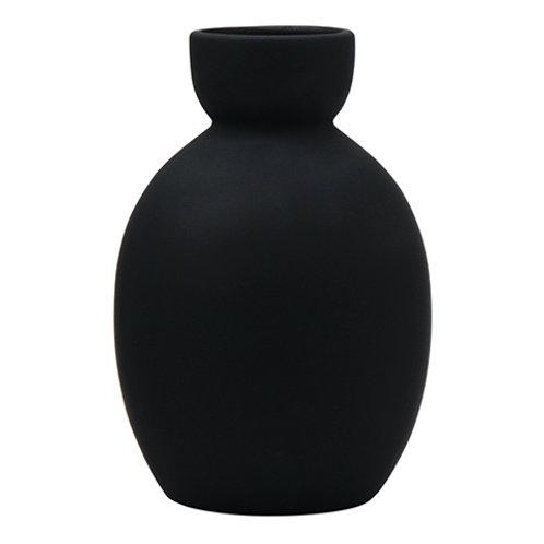 Egg Vase - Matt Black