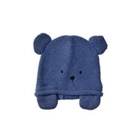 Teddy Knitted Hat - Steel Blue