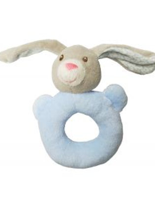 Bunny Rattle Ring - Blue