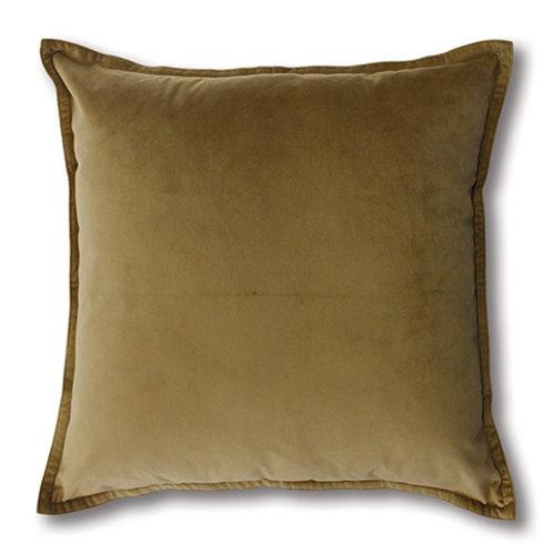 Mira Velvet Cushion - Wheat