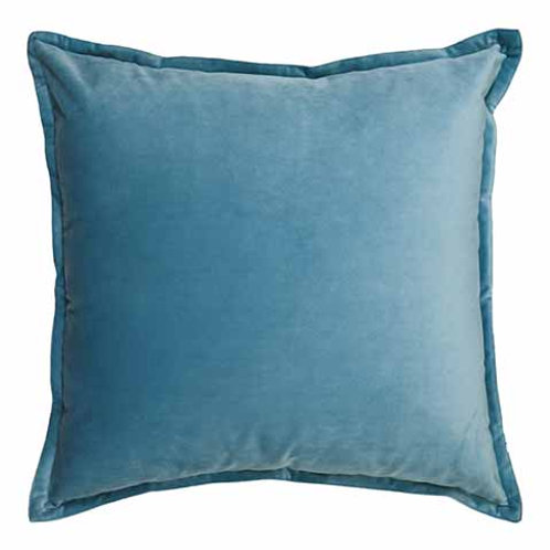 Mira Velvet Cushion - Ice Blue