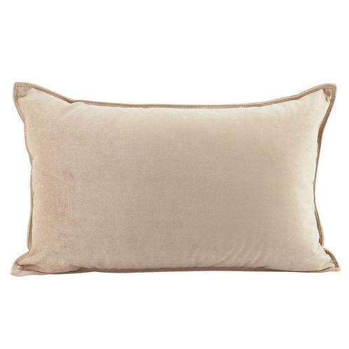 Velvet Oblong Cushion - Nude