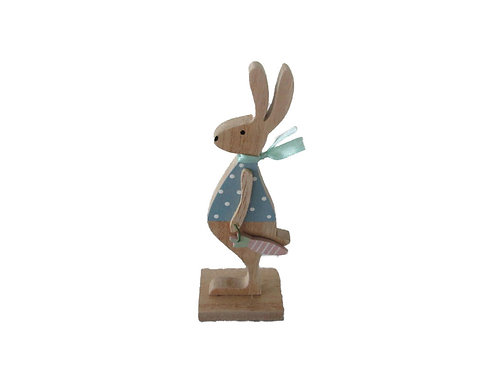 Small Polka Dot Wood Rabbit