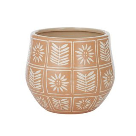 Zinnia Ceramic Pot - Teracotta