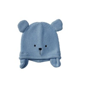 Teddy Knitted Hat - Light Blue