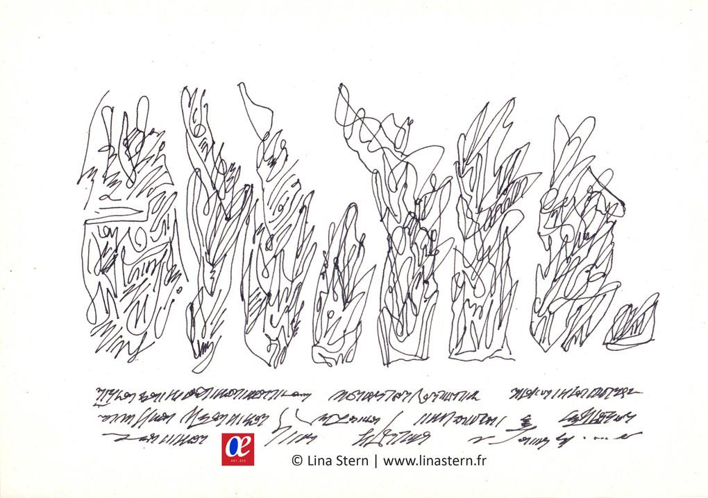 Asemic calligraphy 10