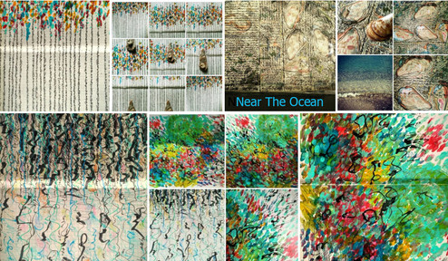 Near The Ocean. Asemic art Collection