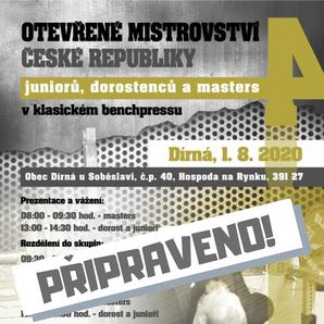4. Otevřené mistrovství České republiky juniorů, dorostu a masters v klasickém benčpresu