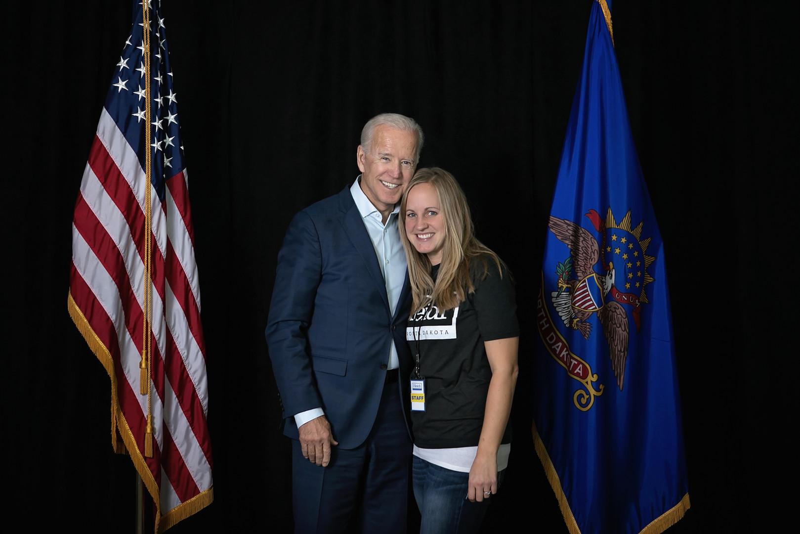 Kari with Joe Biden in 2018