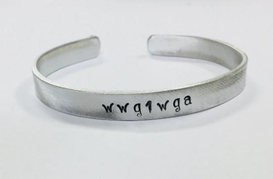 wwg1wga, QAnon, Trump Republican Supporter, Women's Size Cuff Bracelet