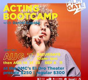 ACTING BOOTCAMP AUG-SEP