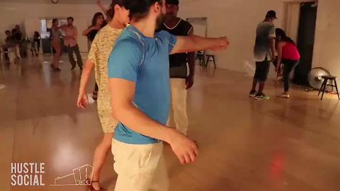 "Dancers John ""Boots"" Merisier, Aldo & Alessandra. Location: Brooklyn Studios for Dance."