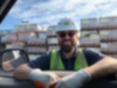 John at Boral with hardhat vest and glov