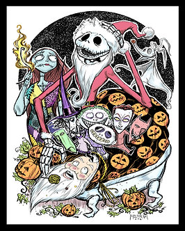 Nightmare Before Christmas act 2 16x20